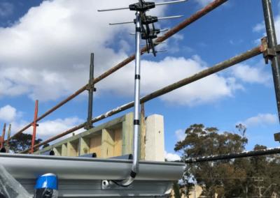 T&R Digital Antenna Installations - Antenna Installation Installed in Gutter