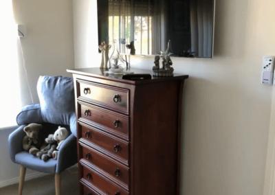 T&R Digital Antenna Installations - Antenna Installation and TV Installation Above Antique Cabinet